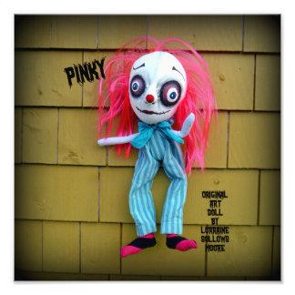 Pink Pinky Clown Art Doll Print Photo Art