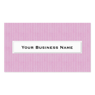 Pink pinstripe Business Cards