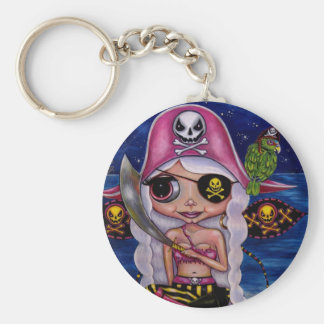 Pink Pirate Fairy Key Ring