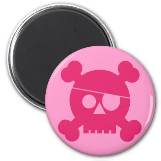 Pink Pirate Skull - Magnet