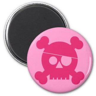 Pink Pirate Skull - Magnet