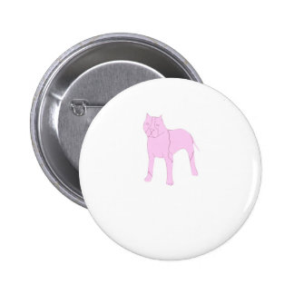 Pink Pit Bull 6 Cm Round Badge