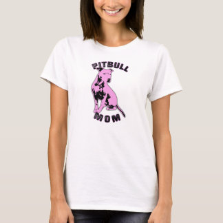 Pink Pitbull Mom Shirt