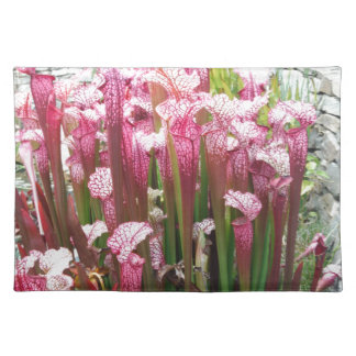 Pink Pitcher Plant ; Pink flowers Placemats