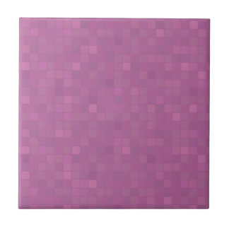Pink pixelated mosaic decor ceramic tile