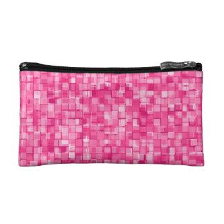 Pink pixels cosmetic bag