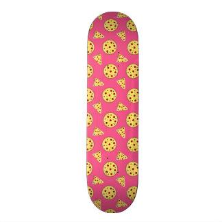 pink pizza pattern custom skateboard