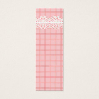 Pink Plaid and Lace Gift Tag Mini Business Card