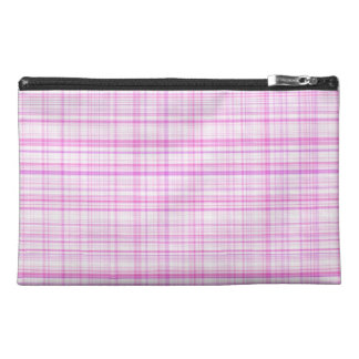 Pink Plaid Travel Accessories Bags