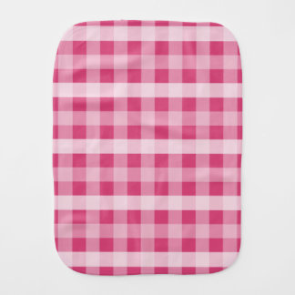 Pink Plaid Burp Cloth
