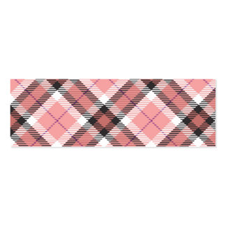 Pink Plaid Business Cards