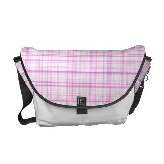 Pink Plaid Courier Bag