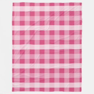 Pink Plaid Fleece Blanket