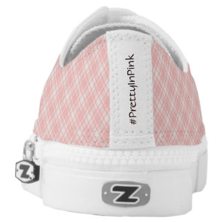 Pink Plaid Hashtag Pretty In Pink Girly Girl Low Tops