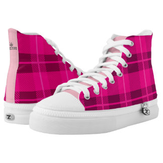 Pink Plaid High Tops