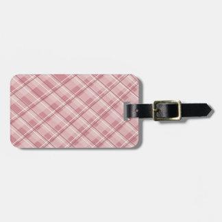 Pink Plaid Luggage Tag