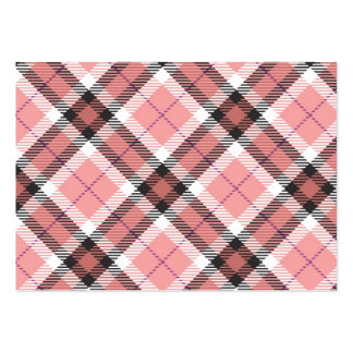Pink Plaid Pack Of Chubby Business Cards