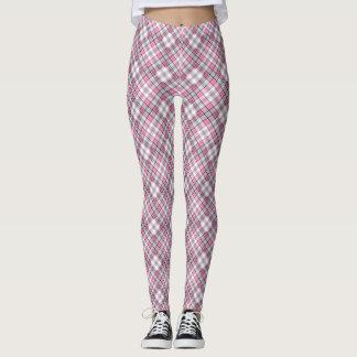 Pink Plaid Pattern Chic Leggings