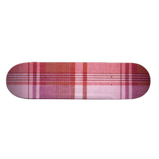 Pink Plaid Skateboard