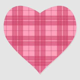Pink Plaid Stickers