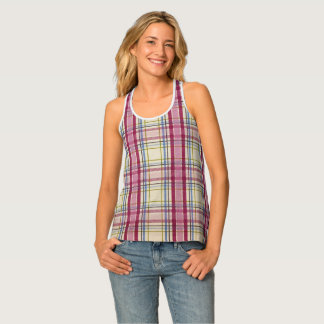 Pink Plaid Tank Top