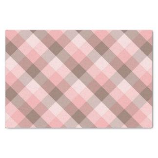 Pink Plaid. Tissue Paper