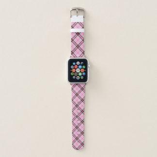 Pink Plaid Watchband Apple Watch Band