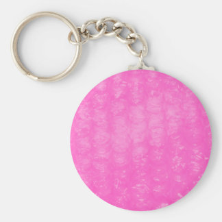 Pink Plastic Bubble Wrap Key Ring