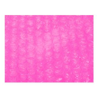 Pink Plastic Bubble Wrap Postcard