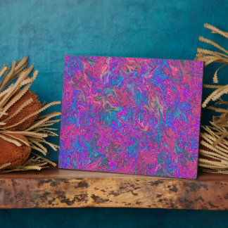 Pink Plastic Grid Abstract Plaque