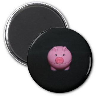 Pink Plastic Pig Magnet