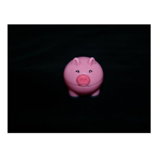 Pink Plastic Pig  Post Card