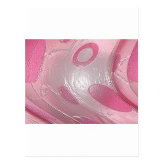 pink plastic postcard