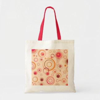 Pink Playful Retro Circles Tote Bag