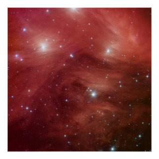 Pink Pleiades Infrared SSC2007 07b Poster