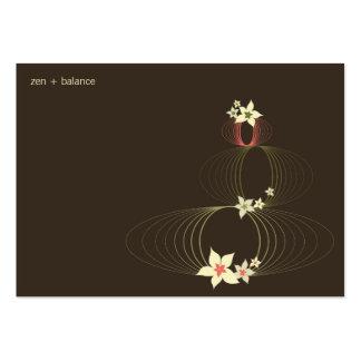 Pink Plumeria Frangipani Ikebana Stylish Blooms Business Cards