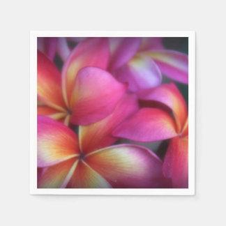 Pink Plumeria Paper Napkins