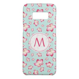 Pink Plumeria Watercolor Monogram Case-Mate Samsung Galaxy S8 Case