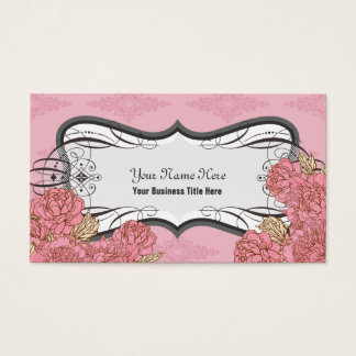 Pink Plump Flowers Business Cards