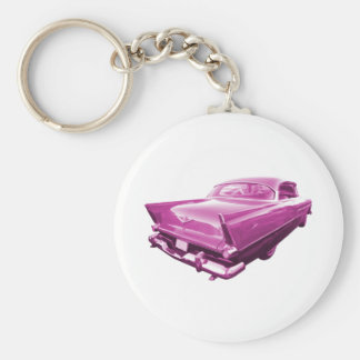 Pink Plymouth Tail Fins Key Ring