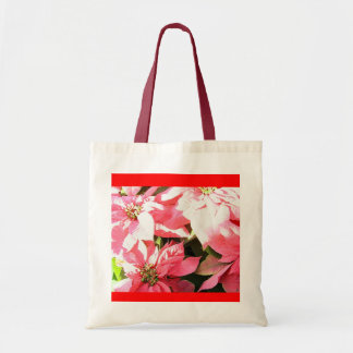 Pink Poinsetta Bag Budget Tote Bag