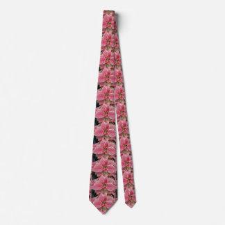 Pink Poinsettia Christmas Neck Tie