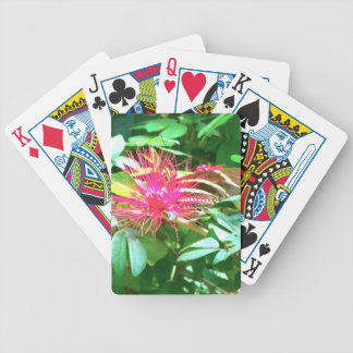 Pink Pointy Flower in Key West Bicycle Playing Cards