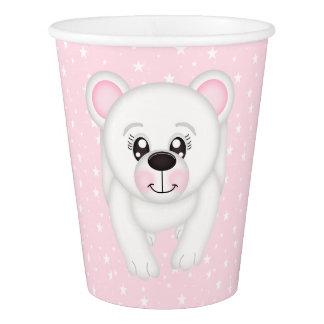 Pink Polar Bear Paper Cup