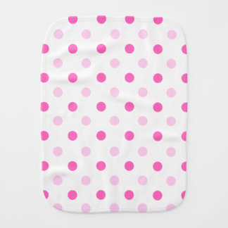 Pink Polka Dot Burp Cloth