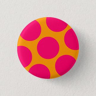 Pink Polka Dot Button