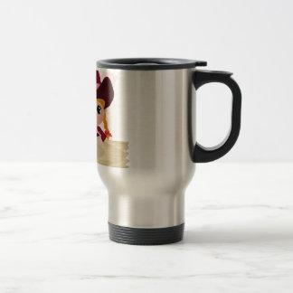 Pink Polka-Dot Cowgirl Coffee Mug