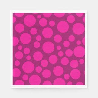Pink polka dot disposable napkins