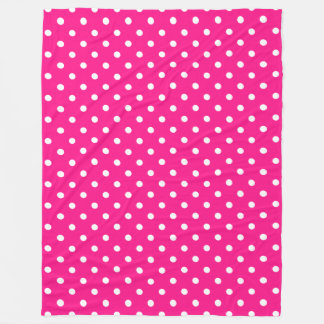 Pink Polka Dot Fleece Blanket