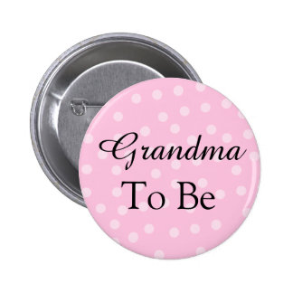 Pink Polka Dot Grandmother Button